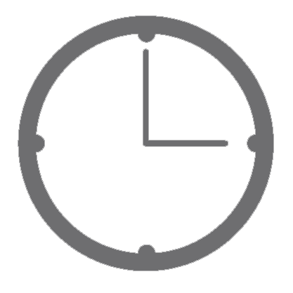 A modern looking grey clock