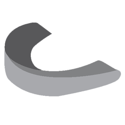 A small grey mouthguard