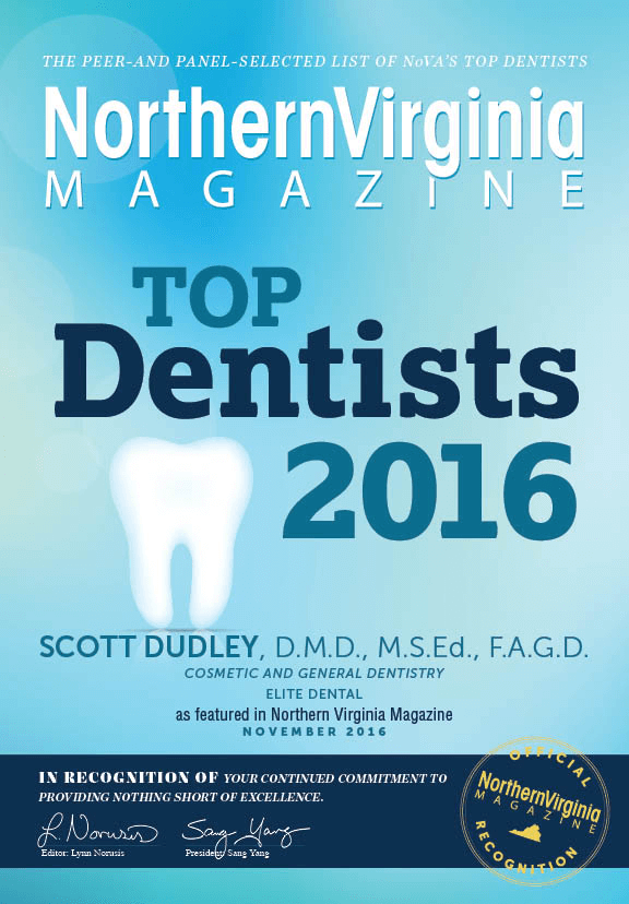 Dr. Dudley is nominated as one of NoVA's top ten dentists