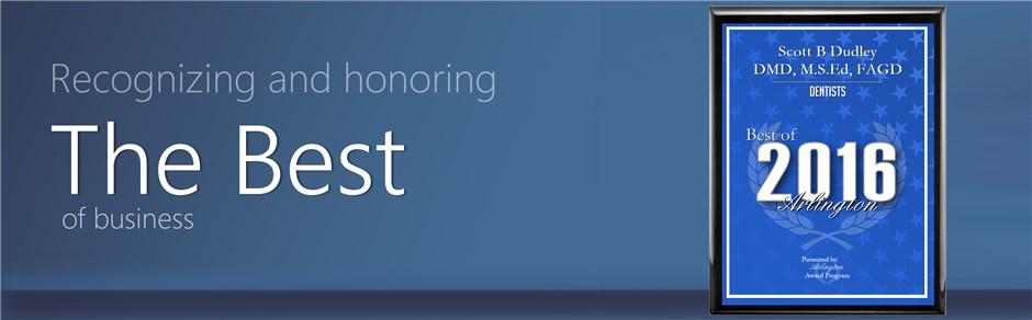 A blue plaque show Best of 2016 Arlington