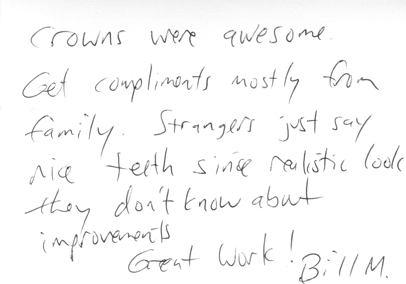 Thanks for the endorsement, Bill!