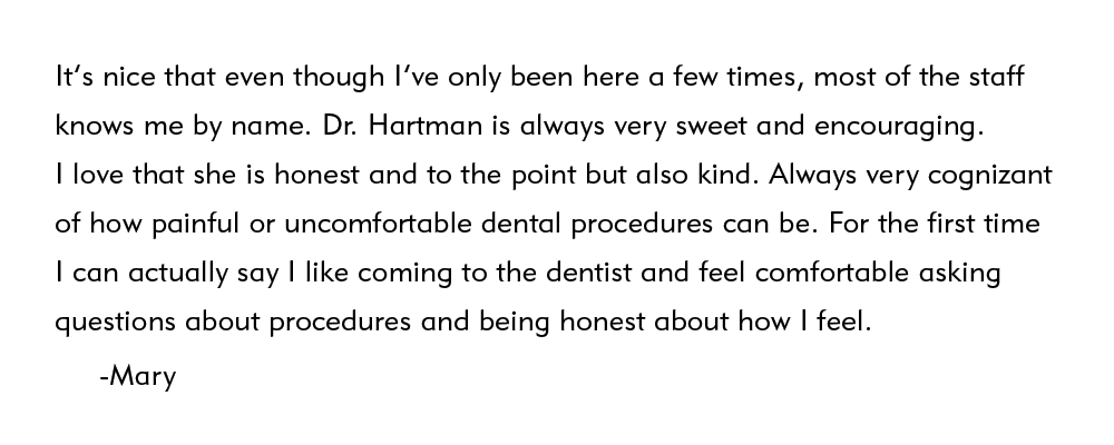 elite dental center patient testimonial