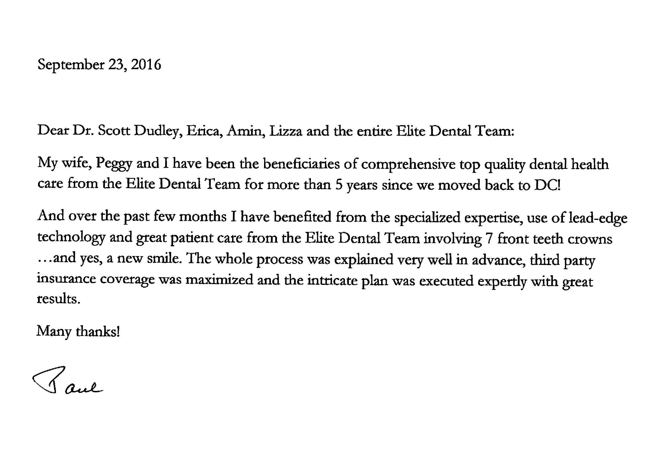 Thanks for the letter, Paul!