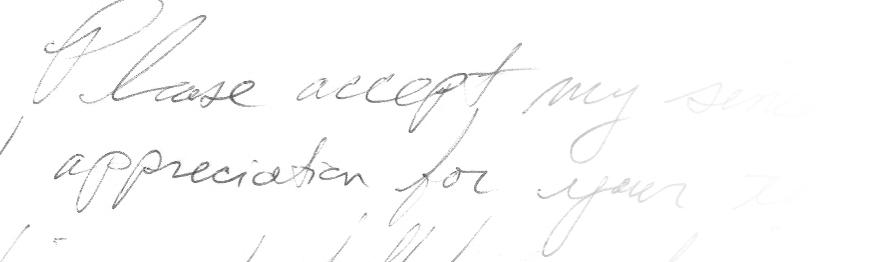 A close up of handwriting.