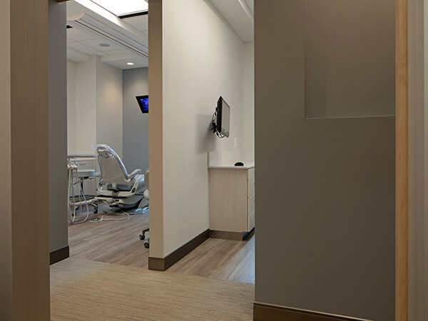A look inside one of our comfortable, clean dental suites.