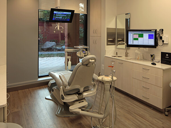 Our comfortable dental chair in a stylish, clean dental suite